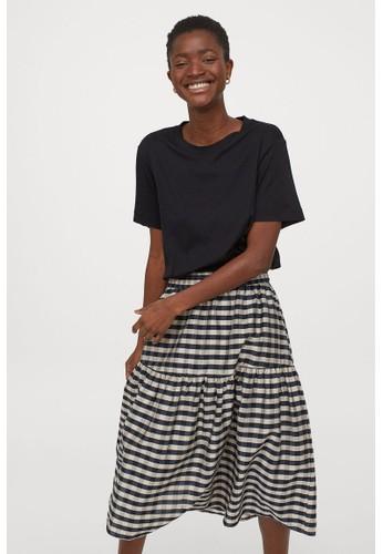 H&M black Lyocell-blend skirt A8122AA6773749GS_1