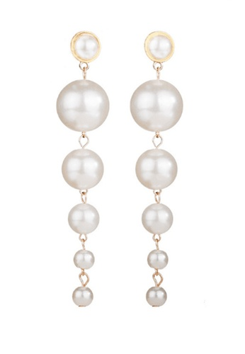 Sunnydaysweety white White Beads Drop Earrings CA030210 1B57AACB495A42GS_1