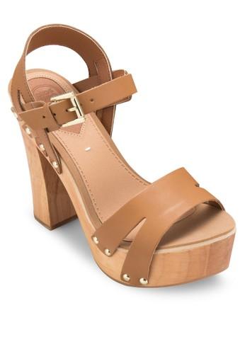 Bellas 木製厚底粗跟鞋, 女鞋, esprit hk store厚底鞋