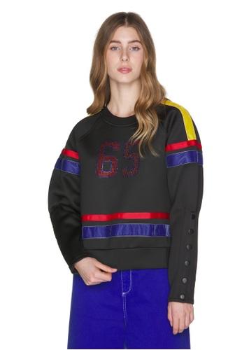 United Colors of Benetton 黑色 蓬袖造型上衣 64CEDAAC3C9CE3GS_1