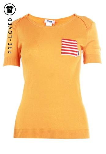 Sonia By Sonia Rykiel orange Pre-Loved sonia by sonia rykiel Wool Pocket Top 99D90AA9D631D0GS_1