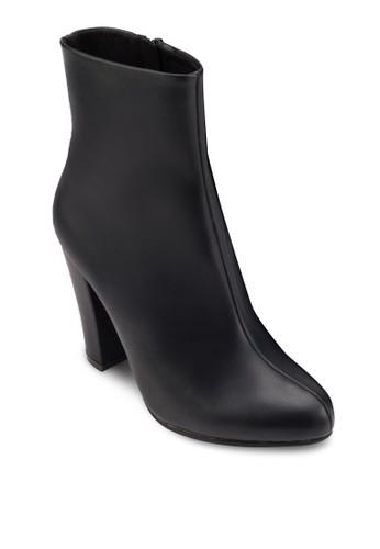 側esprit童裝門市拉鍊粗跟踝靴, 女鞋, 高跟