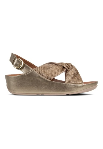FitFlop gold Fitflop Twiss Crystal Sandal Platino 223EBSH8DC2554GS_1