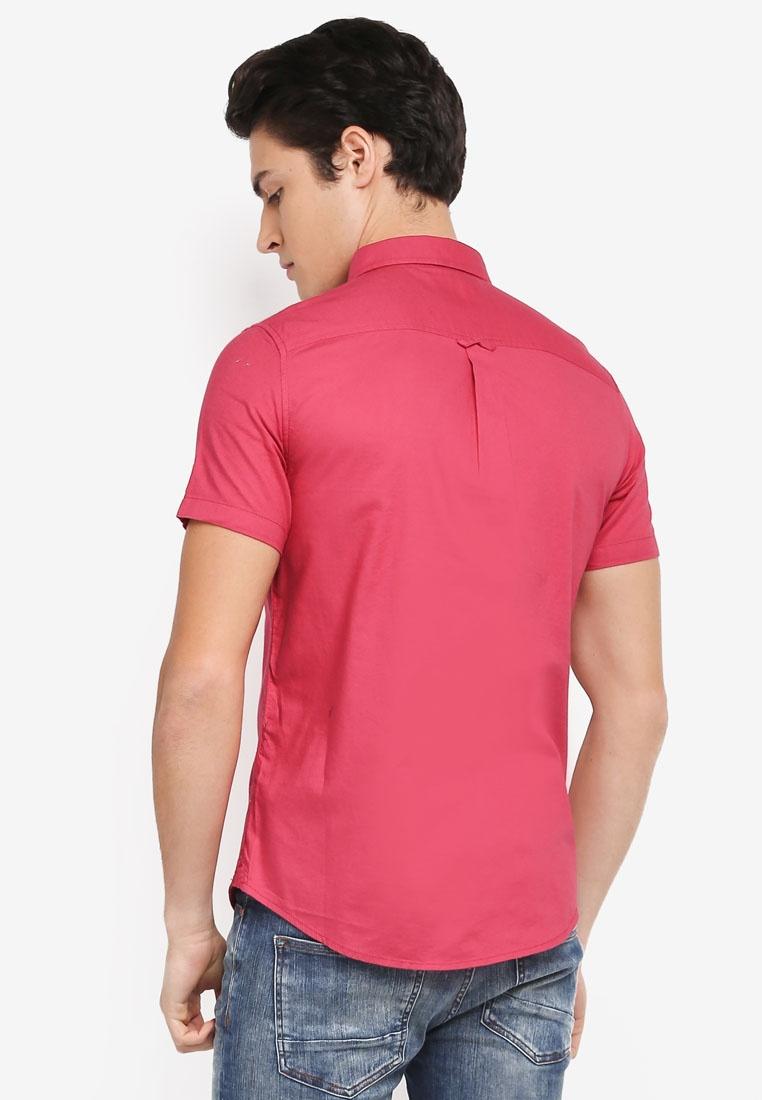 Sleeve Shirt Short Menswear Oxford Pink Burton London q7BdwE