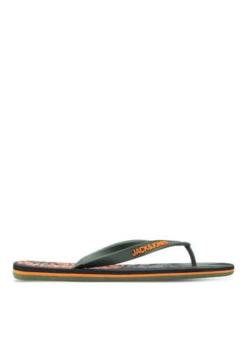 Jack & Jones grey Print Flip-Flops 767A3SH7A78E57GS_1