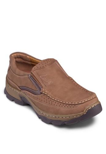 沖孔配色厚esprit鞋子底樂福鞋, 鞋, 鞋