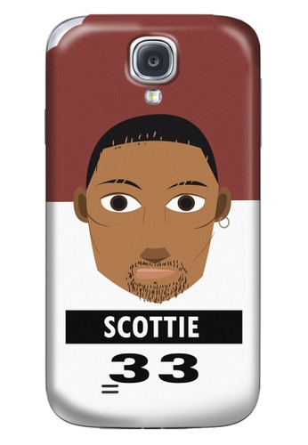 Wonder Cover black and white and brown and red Scottie Matte Hard Case for Samsung Galaxy S4 WO617AC19CNCPH_1