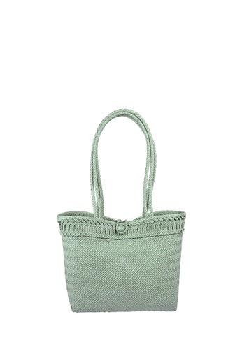 MAYONETTE green Mayonette Naturel Davira Tas Anyaman Anyam Plastik Handmade - Green 040E2ACEA2E220GS_1