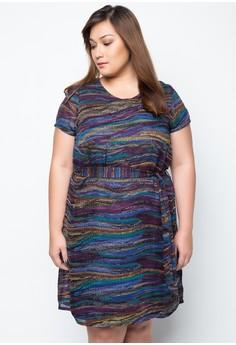 Plus Size Dwen Printed Dress