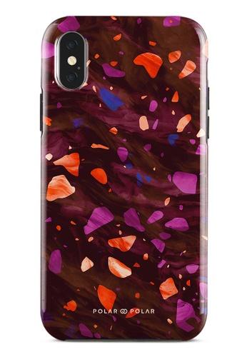 Polar Polar red Paprika Terrazzo Gem Dual-Layer Tough Case Glossy For iPhone X / XS DA201ACB12E690GS_1
