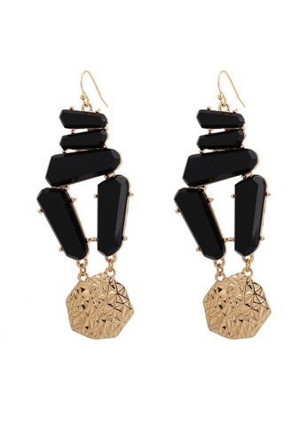 A-Excellence gold Black Abstract Design Earrings 37CF5AC6A8C130GS_1