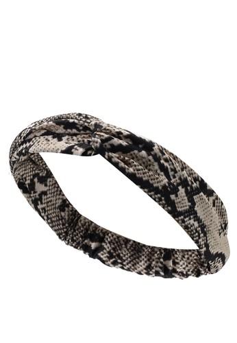 Vero Moda multi and beige Snake Headband BF6A9AC77B8531GS_1