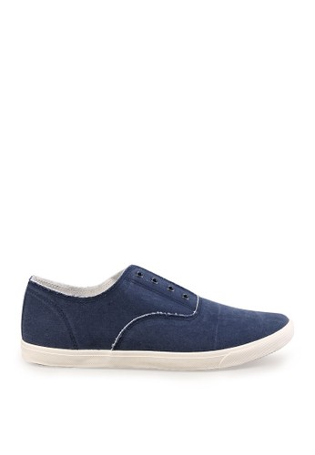 Minarno blue Blue Laceless Slip-On Sneakers MI641SH40RYXID_1