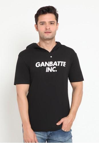 Ganbatte Inc black NVG Hoodie Tee Black 93111AA643F906GS_1