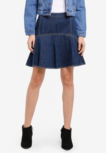 ESPRIT blue Denim Mini Skirt ES374AA0SXZMMY_1