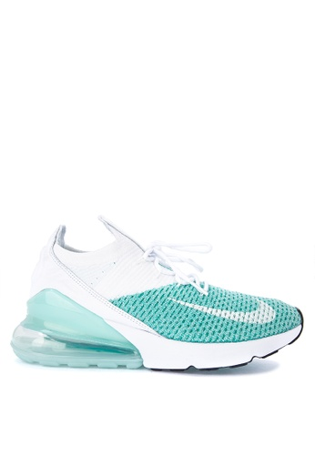 Nike white and green Women's Nike Air Max 270 Flyknit Shoes 1889DSHEC3EB54GS_1