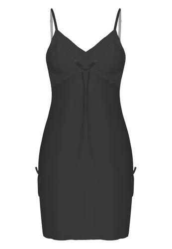 SMROCCO black Stella Lingerie Dress Nightie PM8083 (Black) 167C0AA1F1151EGS_1