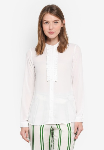 OVS white Long Sleeve Frilled Blouse D7DFEAAACE7D10GS_1