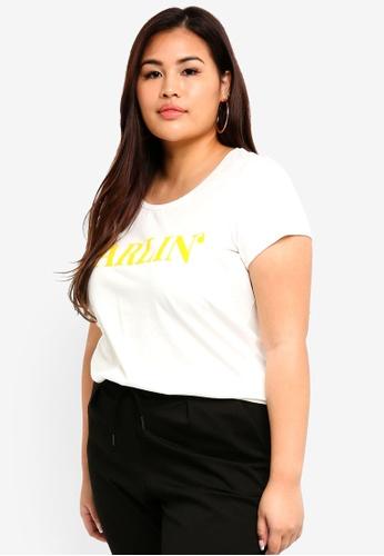 Junarose white Plus Size Darlin T-Shirt 1550BAA119F8BEGS_1
