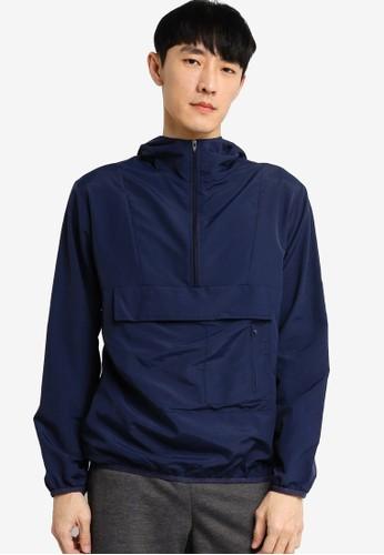 ZALORA BASICS navy Casual Patch Pocket Hooded Jacket 489BFAA21FCA99GS_1