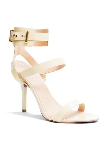 Covet beige Miezko Lia Atanado Soft Ankle Strap Heels CO331SH23ENGPH_1
