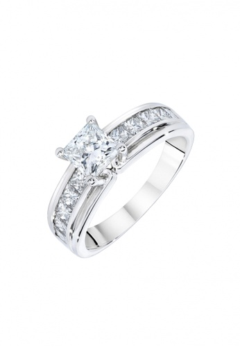 Elfi silver Elfi 925 Genuine Silver Engagement Ring M23 - The Grand Solitaire EL186AC66GNXMY_1