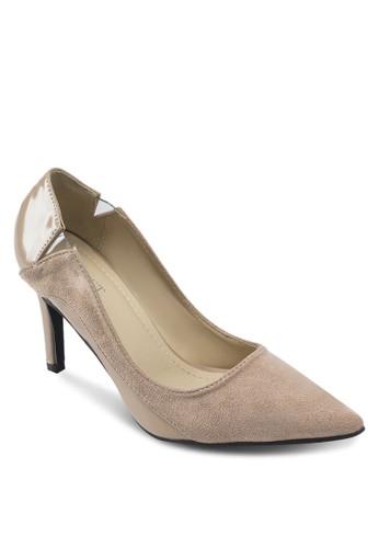 Ada 異材質拼接高跟鞋, 女鞋, 厚esprit taiwan底高跟鞋