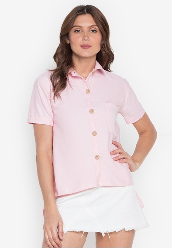 Chictees pink Maxie Polo Top 4D3A7AA8179E55GS_1
