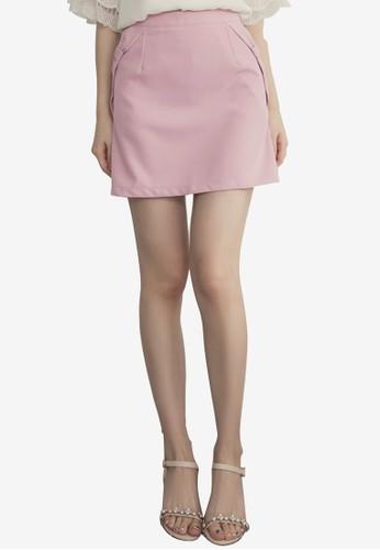 Eyescream pink Ribbon Sides Mini Skirt AABEDAA3BCEF16GS_1