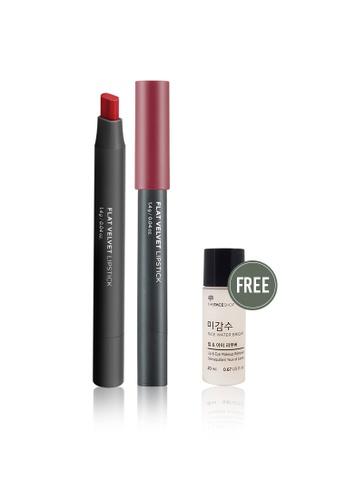 THE FACE SHOP red Flat Velvet Lipstick Rd02 Darjeeling Red 5CF18BE2472E4FGS_1