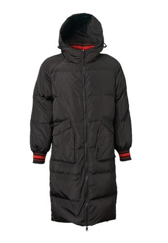 Universal Traveller black Oversized Down Jacket With Ribbed Taping 4FDD2AAE880C82GS_1