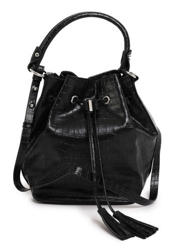 PIMKIE black Tassel Tie Bucket Bag F4689AC7D0E83AGS_1