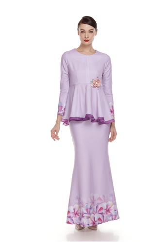 Rania Adeeba Kurung Rara Purple from rania adeeba in Purple