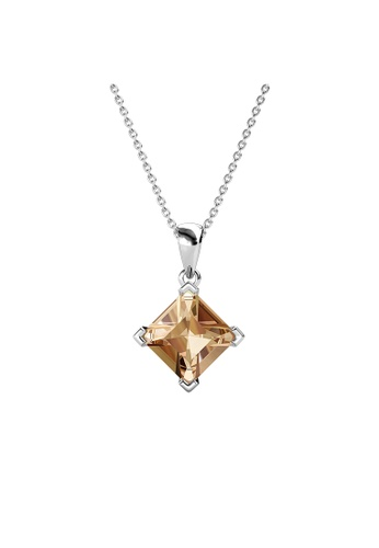 Her Jewellery Princess Square Pendant (Champagne) - Made with Premium grade crystals from Austria 8862FACD6D1700GS_1