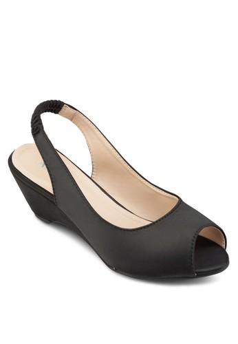 露趾繞踝楔型鞋, 女鞋, esprit官網厚底楔形鞋