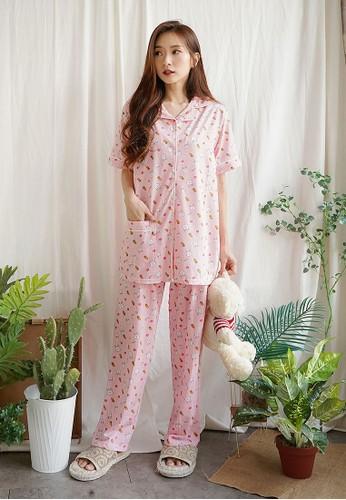 Greet Night Wear pink Greet Night Wear Bunny Carrot Pattern Shorts D-392 / PPK C89C2AA4180F9CGS_1