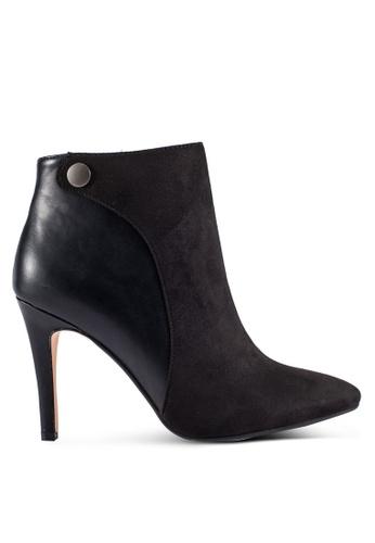 ZALORA 黑色 Mixed Material 短靴 688CFSH0F767A9GS_1
