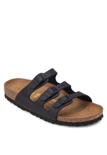 Flesprit 請人orida 三帶扣環平底涼鞋, 女鞋, 涼鞋