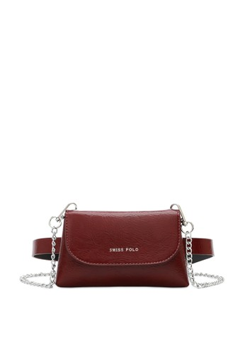 Swiss Polo red 2-Way Usage Chain Bag 5E2E0AC0F7D43FGS_1