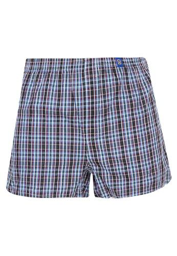 Sunjoy black Checkered Boxer Shorts 7E253US3E7DFF9GS_1