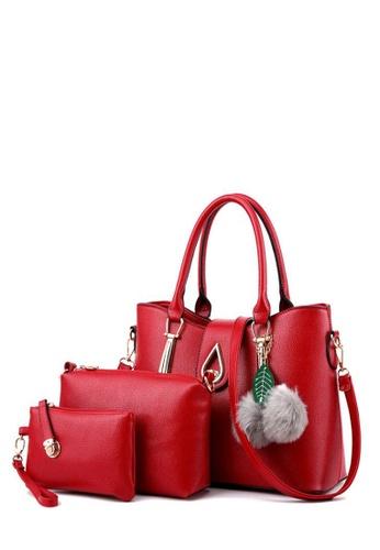TCWK red Set of 3pcs Ladies Handbag TC258AC0RFP2MY_1