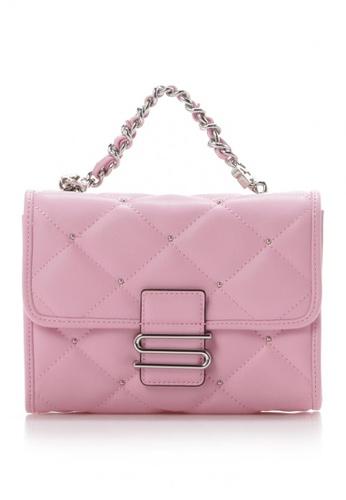 """Samantha Thavasa pink Samantha Thavasa """"S"""" Series Quilted Mini Bag D91B1ACDE2F535GS_1"""