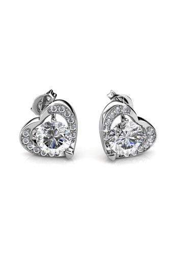 Her Jewellery white and silver Forever Earrings - Anting Crystal Swarovski by Her Jewellery D30F8AC78F812BGS_1