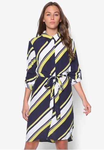 條紋印花襯衫連身裙, 服飾esprit門市地址, 洋裝