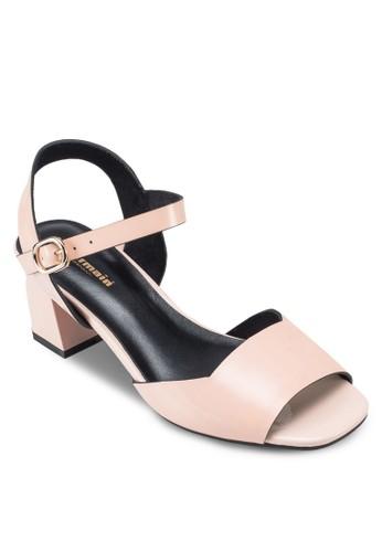 Idalia 露趾繞踝中粗跟鞋,esprit 旺角 女鞋, 鞋