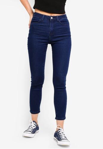 ZALORA BASICS blue Basic Slim Jeans C3315AA6390ABFGS_1