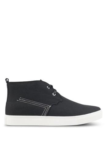 JAXON black Canvas High Top Sneakers CDC23SH4079E24GS_1