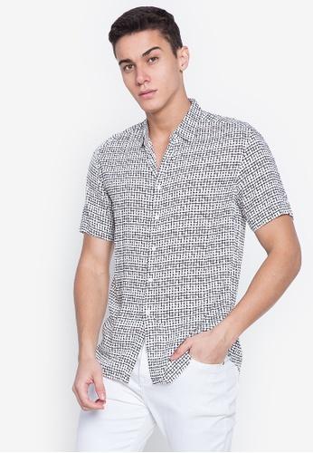 MICK + MARTY white Printed Short Sleeve Shirt 66BD7AA9A00E65GS_1
