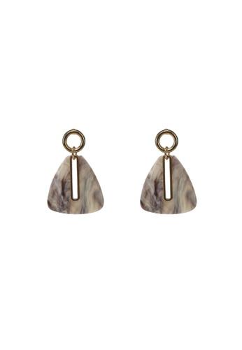 niko and ... grey Triangle Drop Earrings 64C51AC00A9948GS_1
