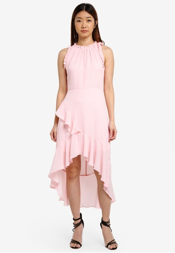 Miss Selfridge pink CNY Hi-Lo Maxi Dress 1CFEAAADC3091DGS_1